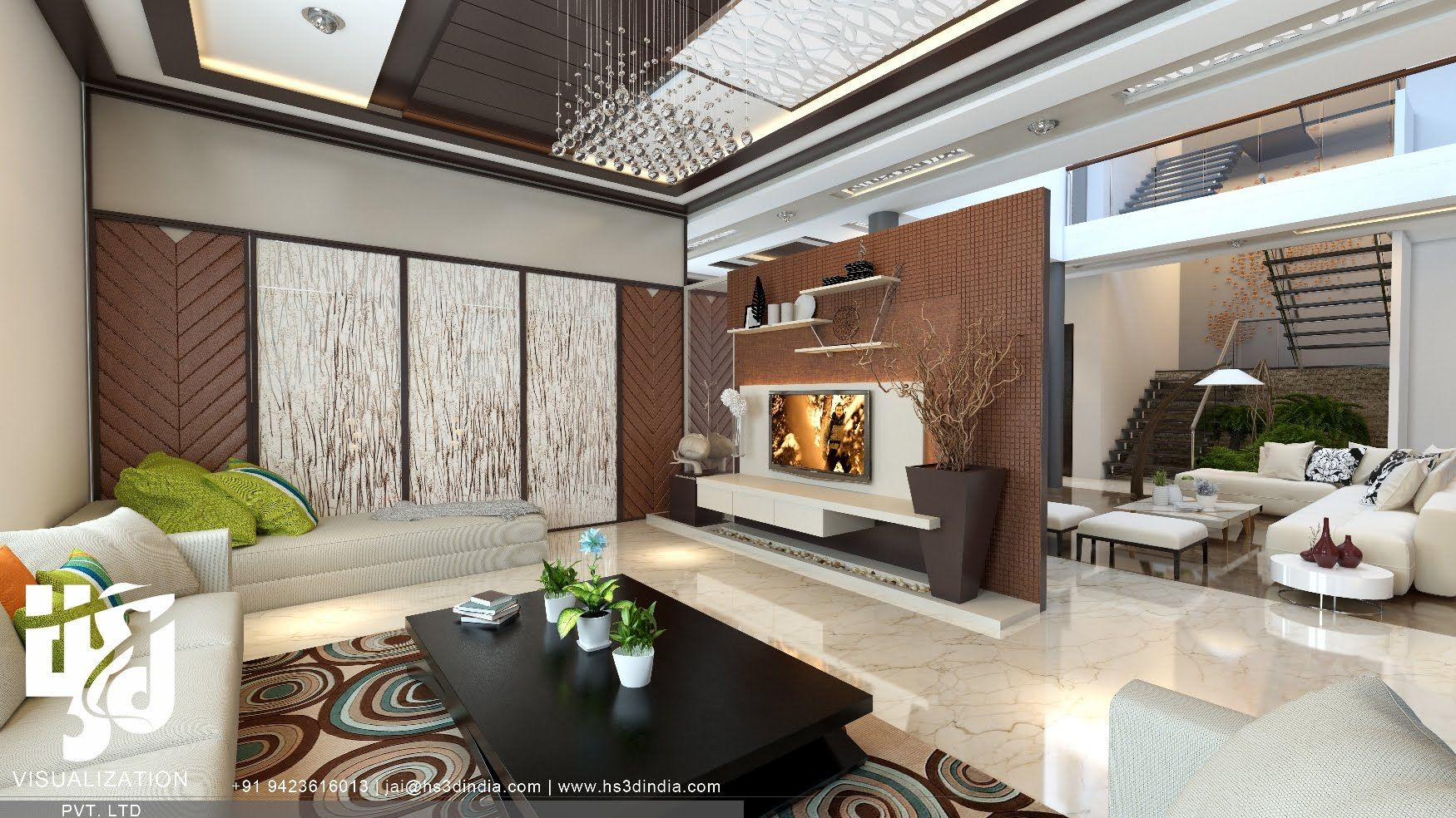 Luxurious Villa 3d Interior Walkthrough Animation By Hs 3d India Residential Interior Design Residential Interior Design