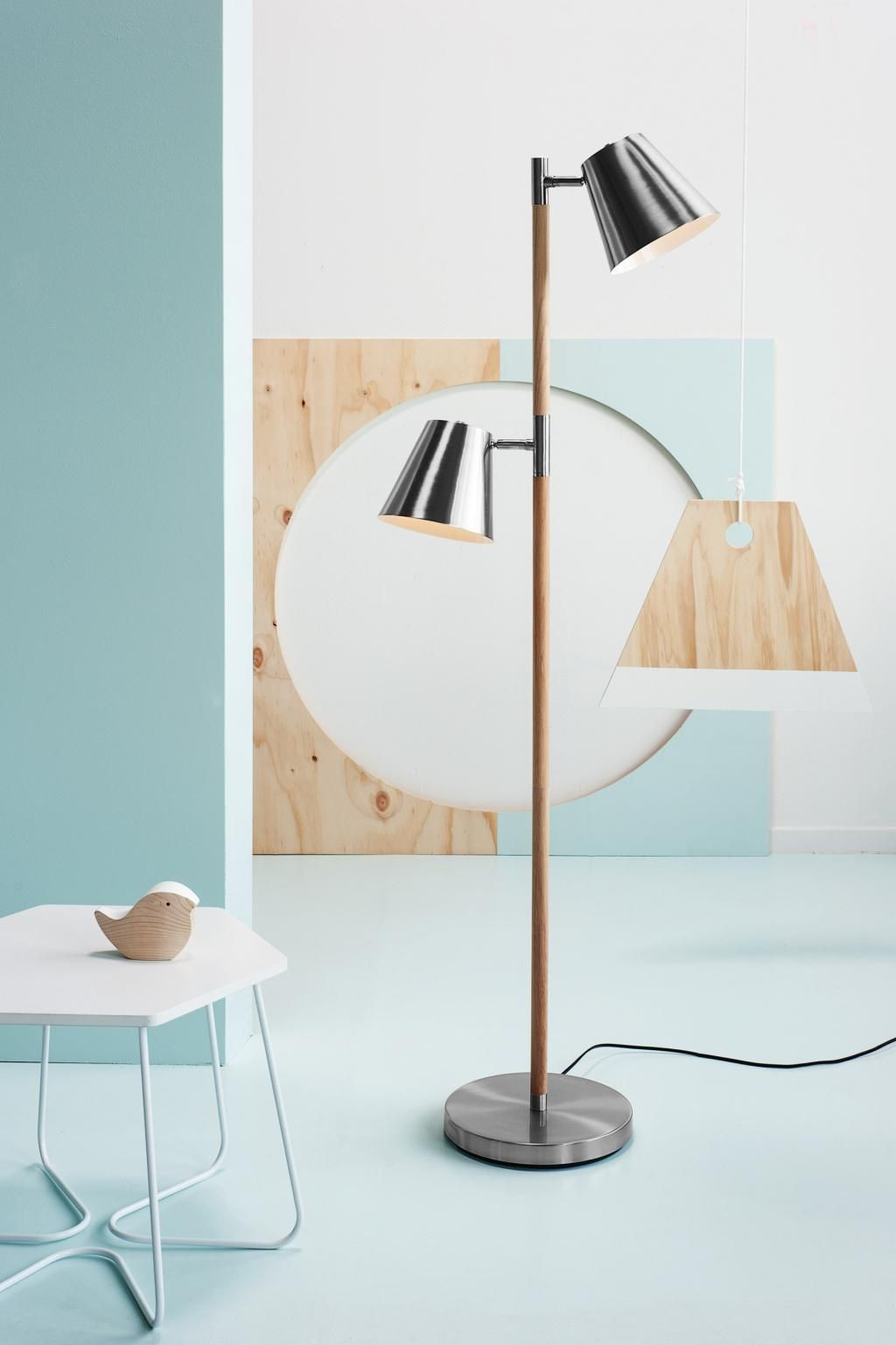 Stehlampe rubi schwarz leitmotiv saloni pinterest lamp this robust floor lamp of leitmotiv has two modern adjustable lampshades and is made from a combination of wood and metal the bulbs though energy saving geotapseo Choice Image