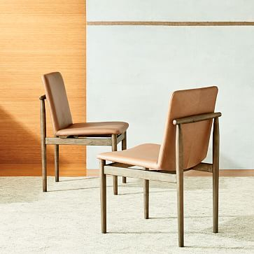 Framework Leather Dining Chair Taupe Westelm With Images
