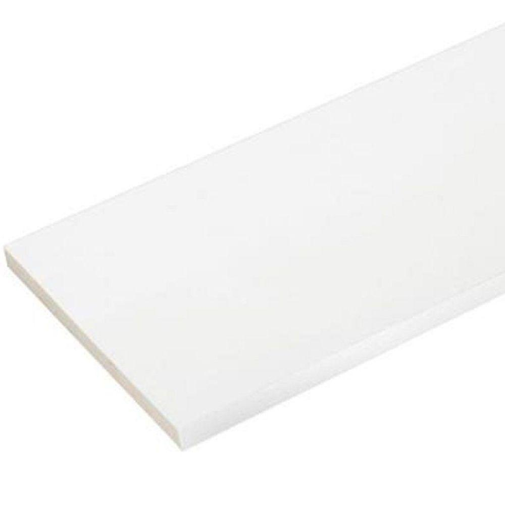 Veranda 1 2 In X 12 In X 8 Ft Reversible White Cellular Pvc Fascia 3 Piece Per Box 827002000 The Home Depot Moldings And Trim Pvc Trim Boards Pvc Trim