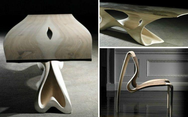 Futuristisches Esstisch Design mit passendem Stuhl Furnishing