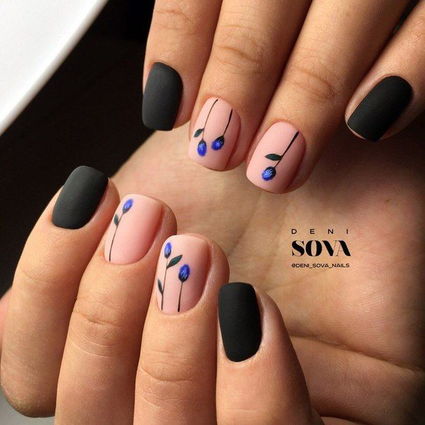 Маникюр | Видео уроки | Art Simple Nail | Ногти | Pinterest | Short ...