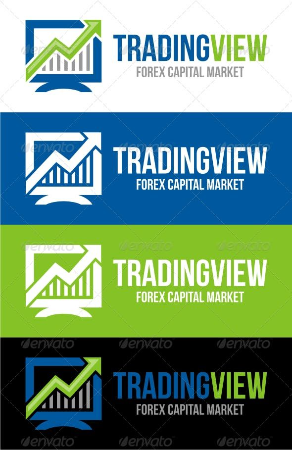 Trading View Trading Financial Logo