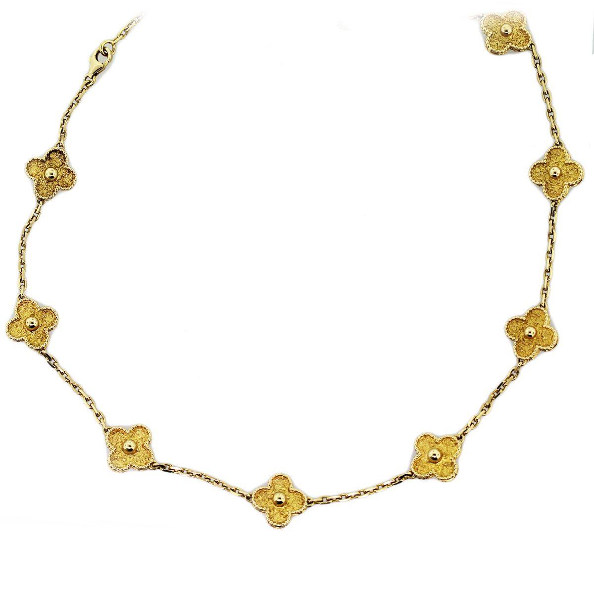 Clover Necklace Van Cleef: Van Cleef And Arpels Alhambra Gold Clover Necklace