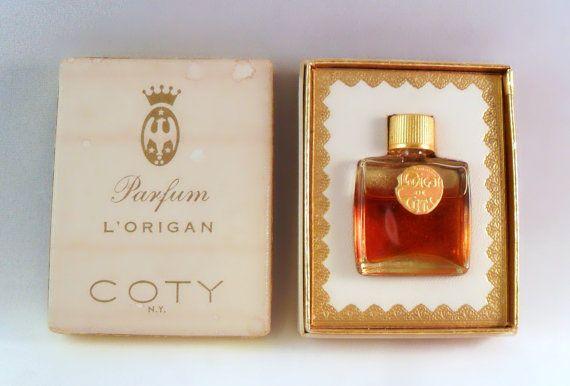 Vintage 1940s L'Origan by Coty 1 dram Micro Mini Parfum Splash Perfume with Box Original Formula