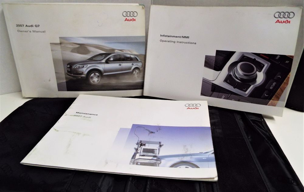 07 2007 audi q7 owners manual book guide set w case audi ebay rh pinterest com Audi A8 Audi A8