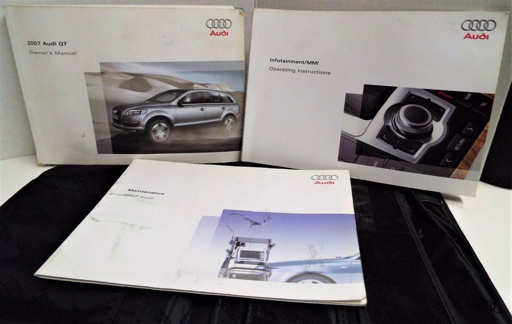 07 2007 Audi Q7 Owners Manual Book Guide Set W Case Audi Audi Audi Q7 Owners Manuals