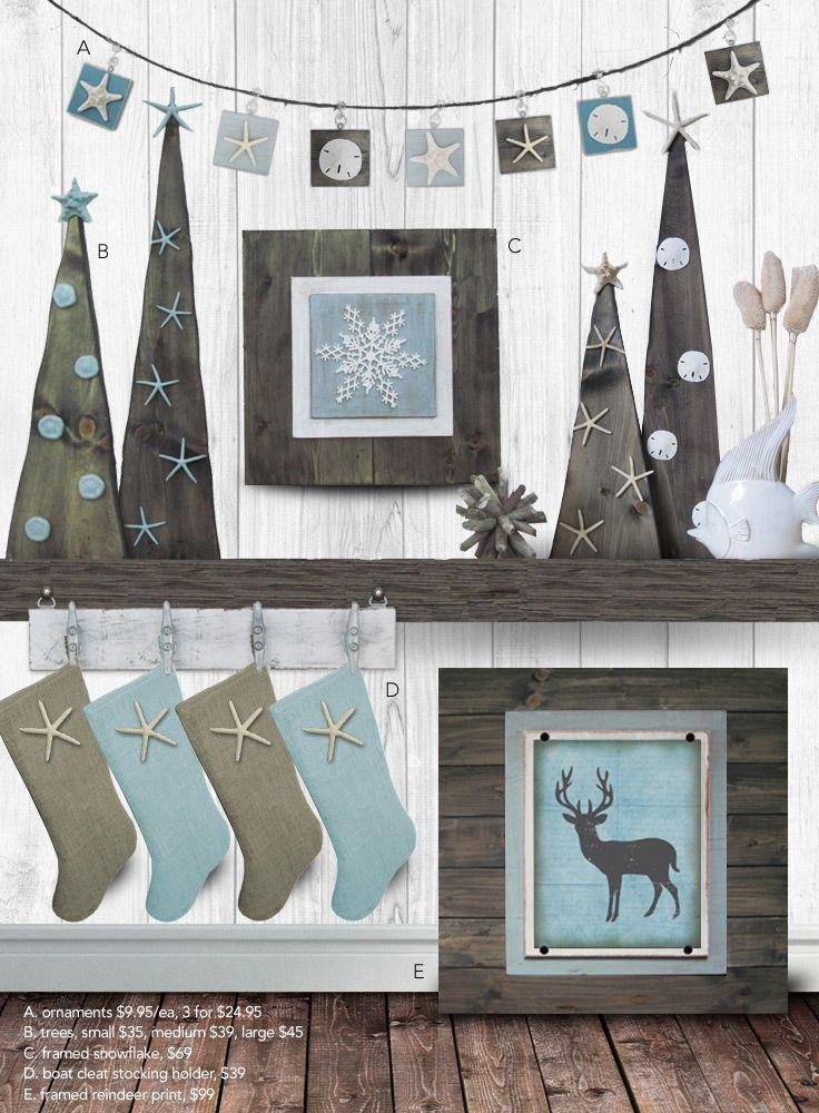 Coastal Christmas Collection Coastal christmas, Coastal and Holidays - coastal christmas decorations