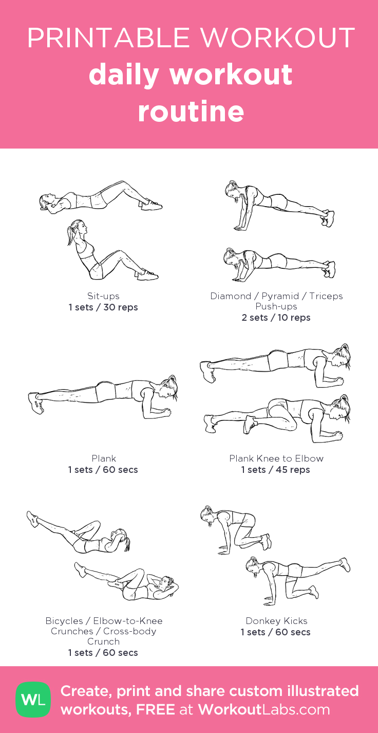 daily workout routine: my visual workout created at