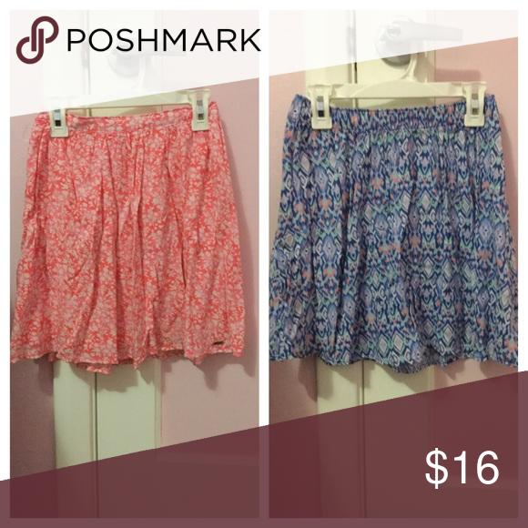 Skater skirt bundle!💗 Two skater skirts. Also selling separately for $10 each Hollister Skirts Circle & Skater