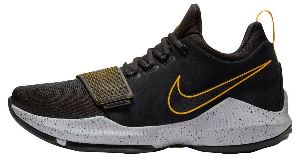 10aeff560824 Nike PG1 Basketball Shoes Mens Size 10 Black University Gold 878627 006 New   Nike  BasketballShoes