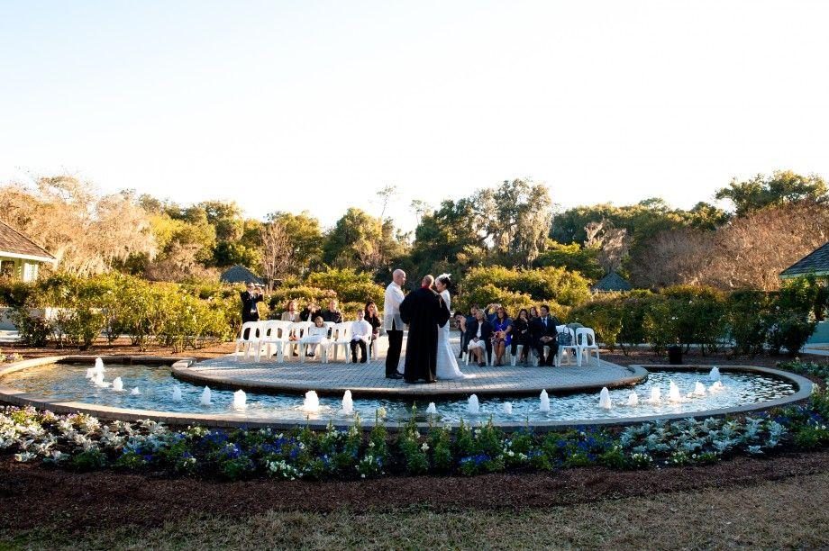 A wedding in the rose garden at harry p leu gardens in