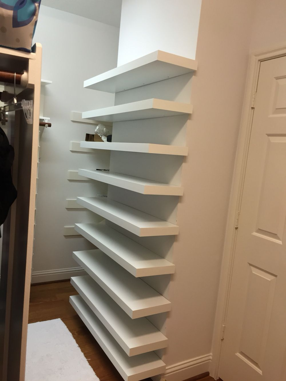 Shoe Shelves In Closet For The Home Pinterest