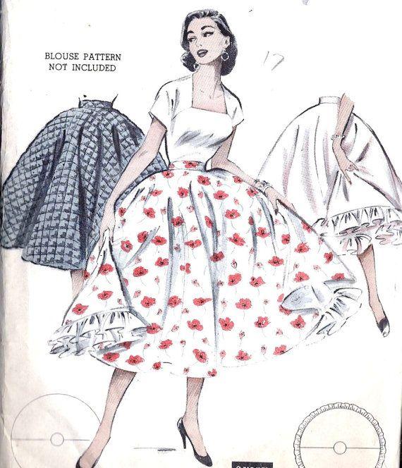 1960s Misses Circle Skirt Separate Petticoat | Hairspray | Pinterest ...