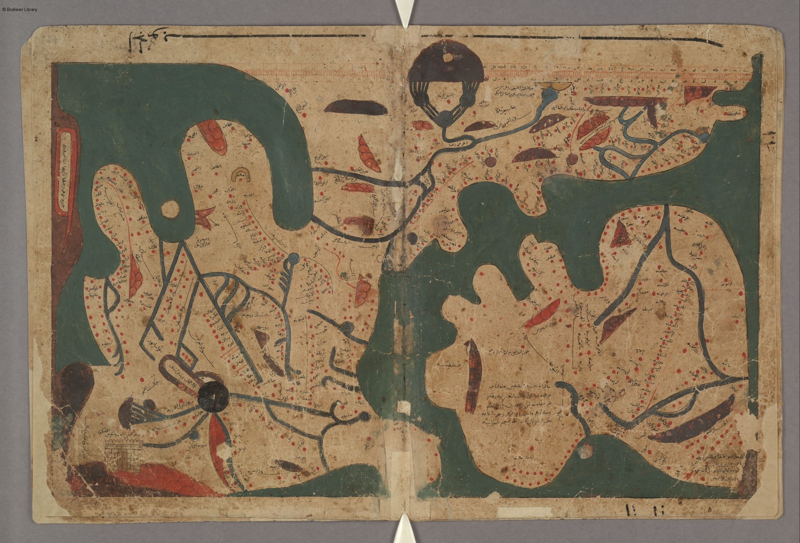 Medieval islamic views of the cosmos book 2 chapter 2 on the the oldest extant arab rectangular map of the world from kitb gharib al funn wa mula al uyn the book of curiosities of the sciences and marvels gumiabroncs Images