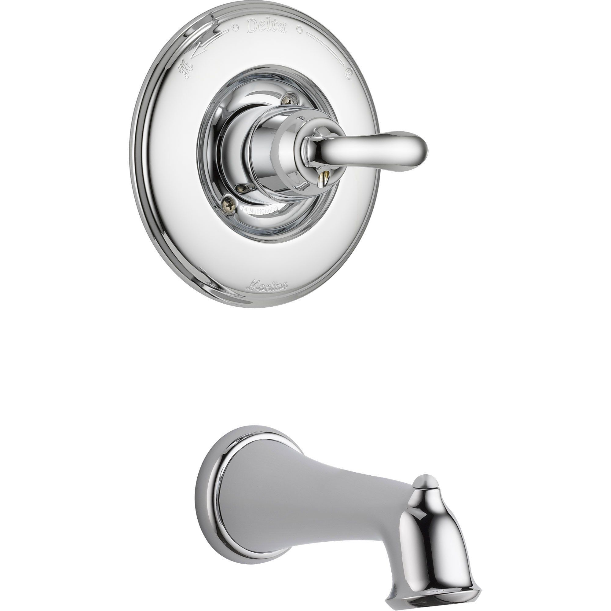 Delta Linden Chrome Single Handle Tub Only Faucet With Rough In