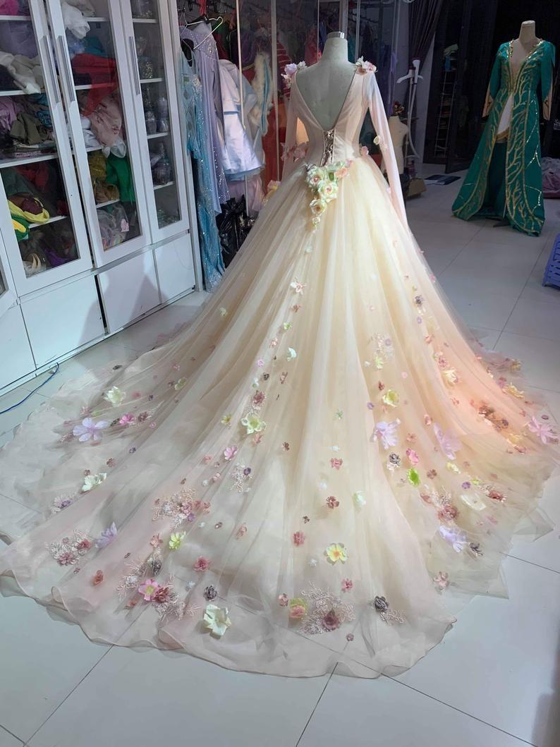Aurora Inspired Gown Sleeping Beauty Costume Aurora Wedding Dress Maleficent Fairy Tale Wedding Dress Fairytale Dress Aurora Wedding Dress [ 1059 x 794 Pixel ]