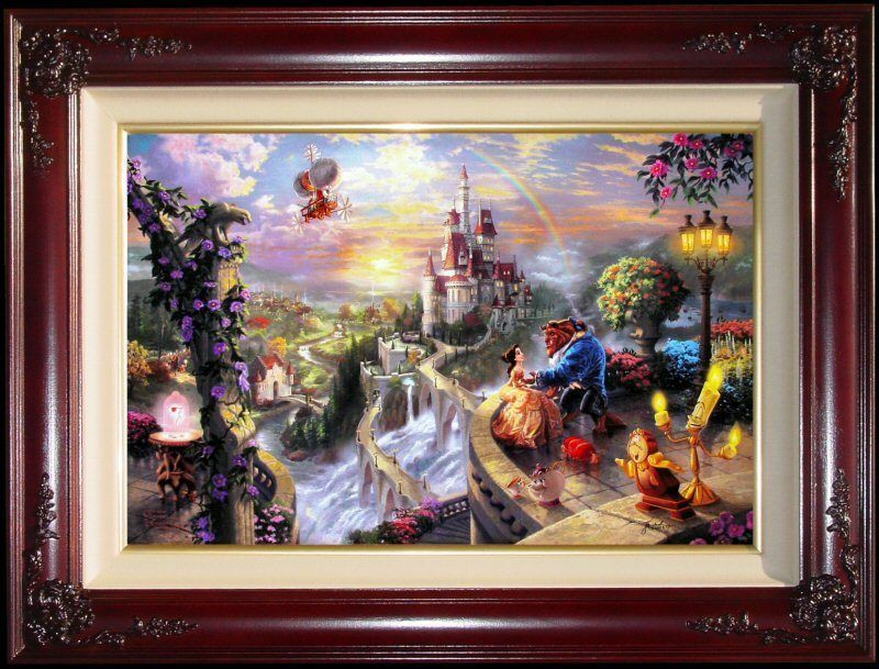 Home Decor Painting Disney HD Print on Canvas Beauty and The Beast Art 12x18