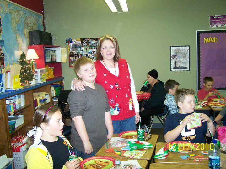 Nick and me at the 5th grade Christmas Party-I just liked the pic and wanted to post it lol