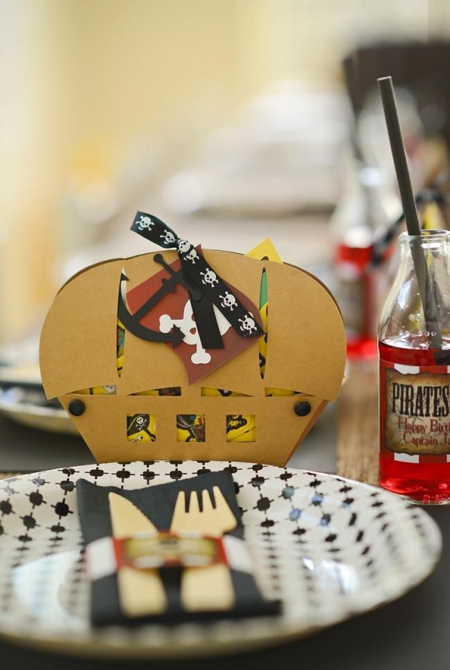 Boys Pirate Themed Birthday Party Table For Kids Decoration Ideas