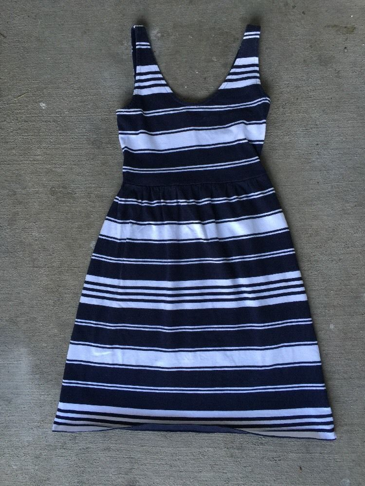 J Crew Nautical Striped Fit and Flare Dress Women's Sz XS | eBay