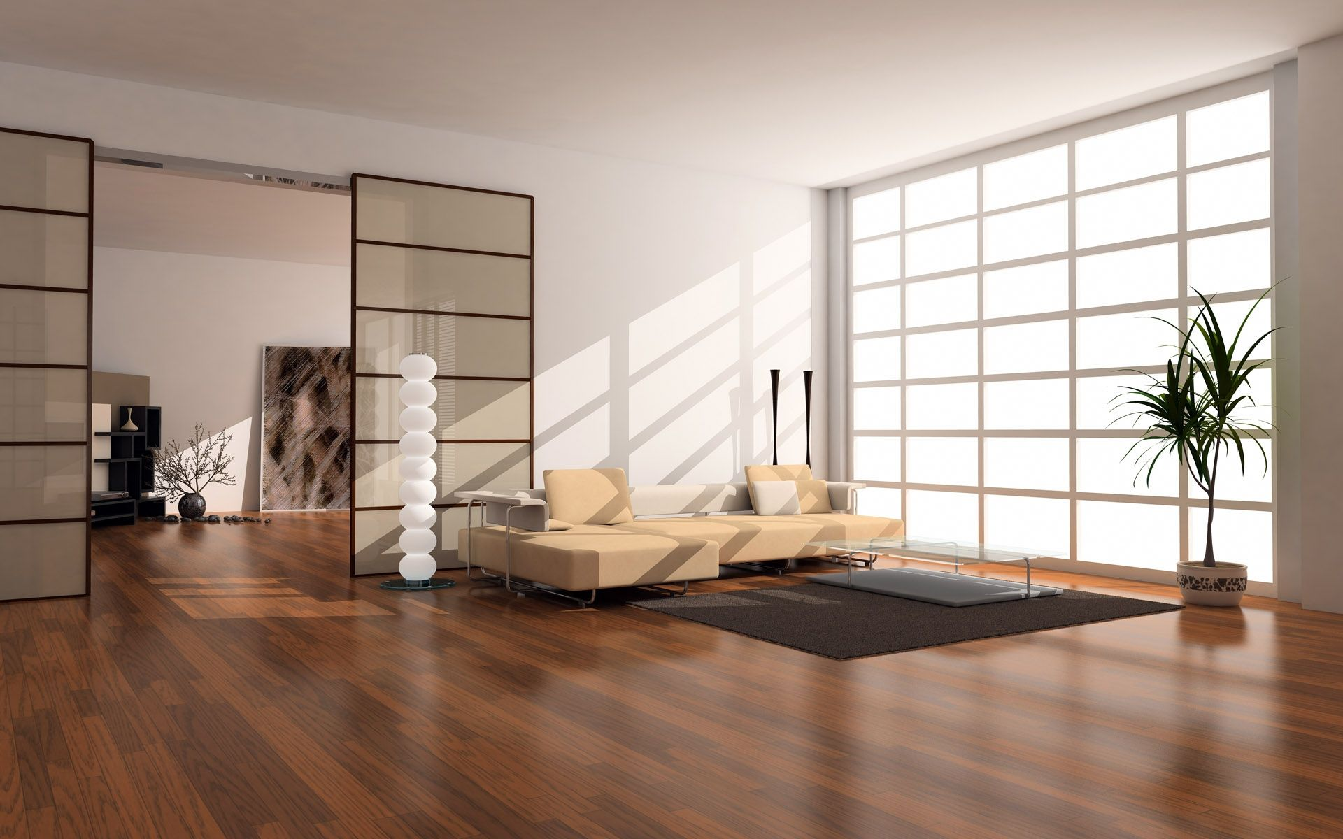 Japanese Apartment Design japan style apartment beige couch shiny wood floors create warm