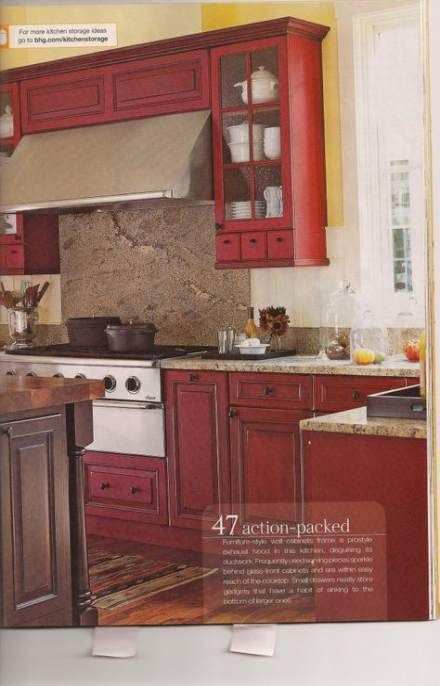 Kitchen colors red walls yellow 32 ideas images