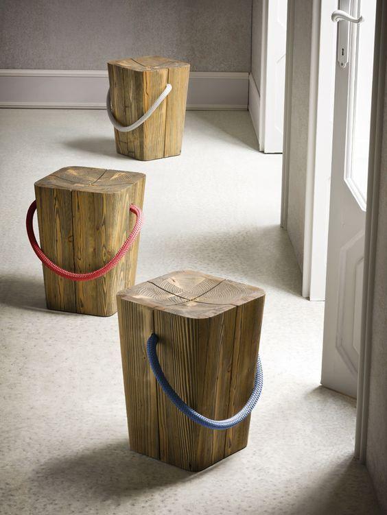 26 idee creative realizzate con tronchi di legno - Imitazioni mobili design ...