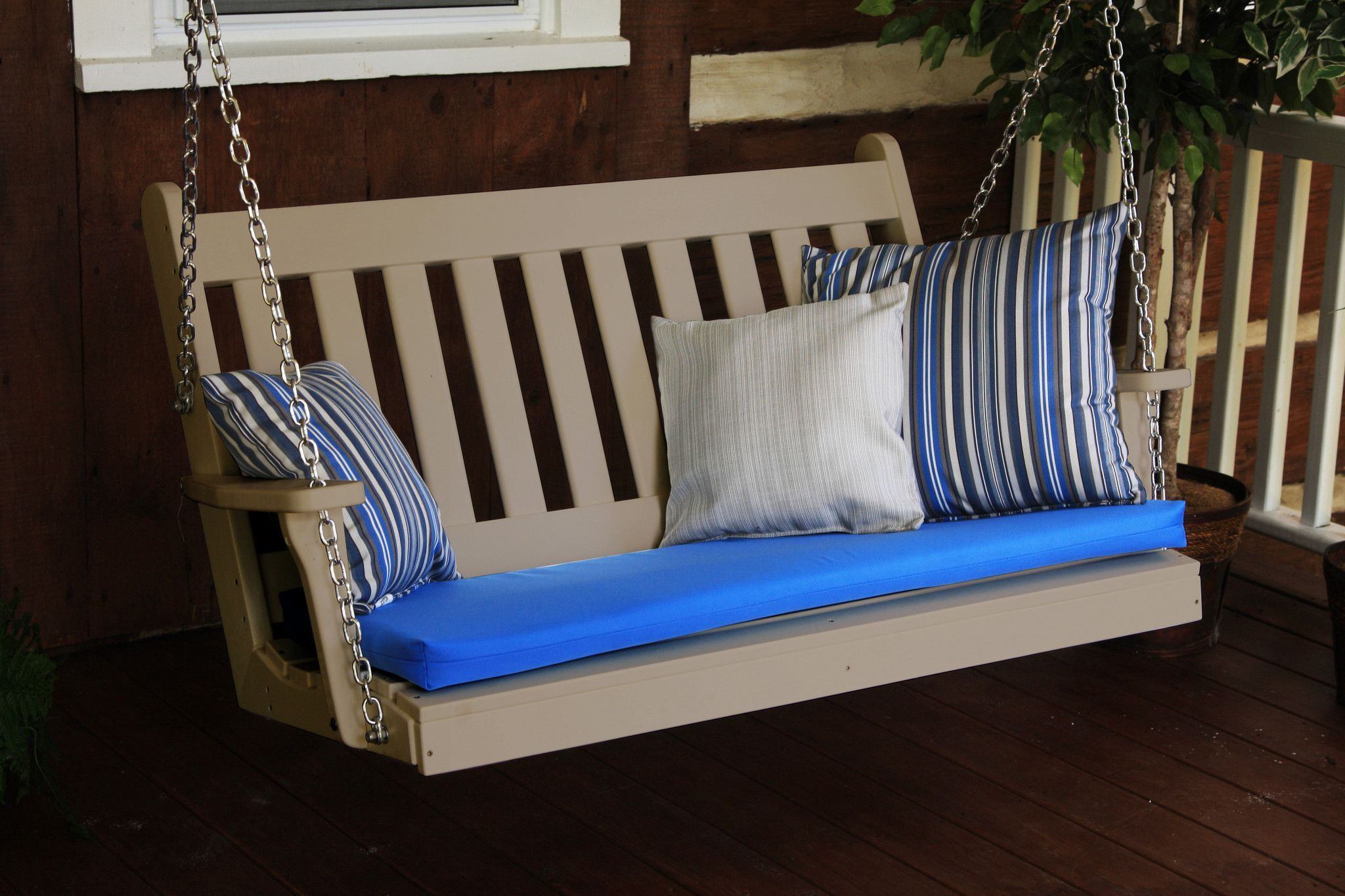 Aul furniture traditional english recycled plastic ft porch swing