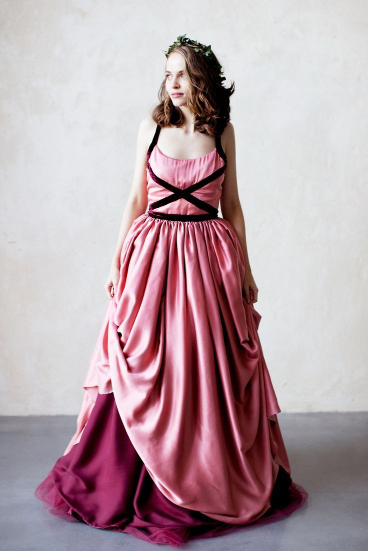 Princess pink silk bridal gown | Ailsa Munro Collection | Pinterest