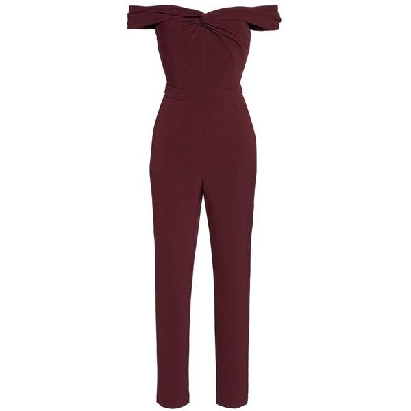 800b1898e2d6 Women's Adelyn Rae Karlie Off The Shoulder Jumpsuit ($64) ❤ liked on  Polyvore featuring jumpsuits, dresses, evening jumpsuits, structured  jumpsuit, ...