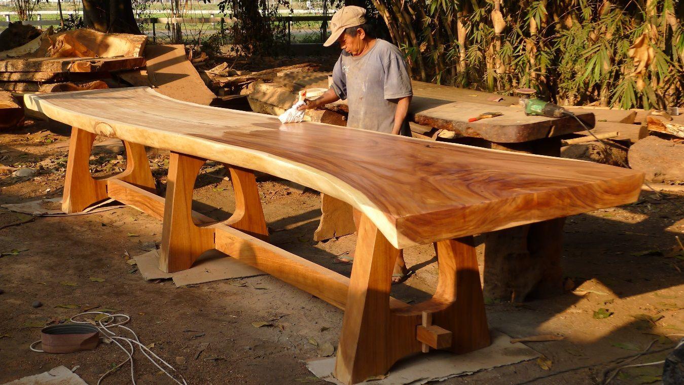 Vic Vanderkooi Wood Slab Table Wood Slab Slab Table
