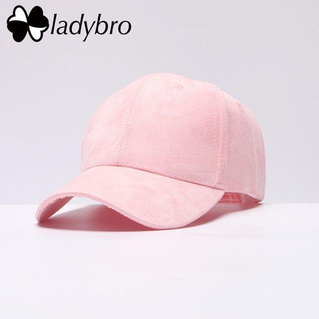 db0ae038c04 Ladybro Spring Suede Cap Pink Casual Women Cap Men Brand Outdoor Sport Bone  Male Baseball Cap Women Snapback Dad Hat Cap Female
