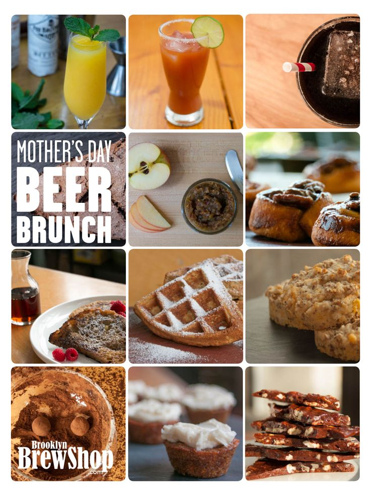 Mother's Day Brunch Menu: Cooking With Beer & Spent Grain Chef recipes via Brooklyn Brew Shop