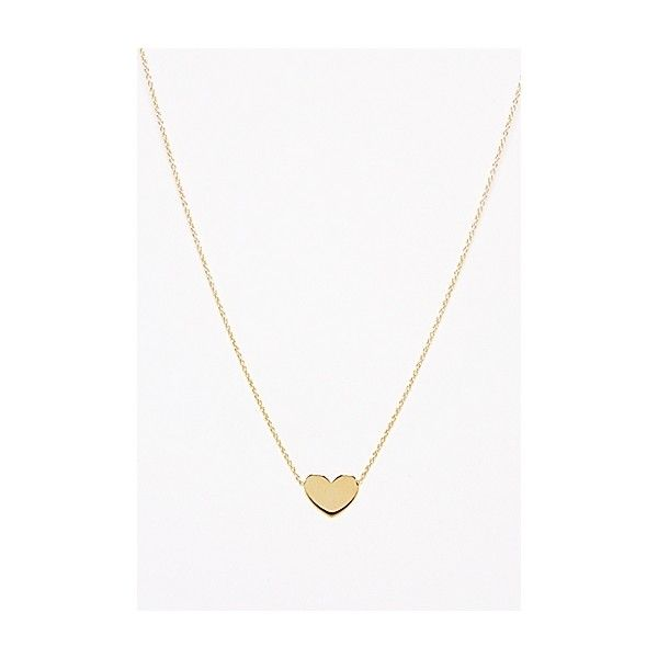 or charm heart single silver gold necklace pendant flat sterling double pin