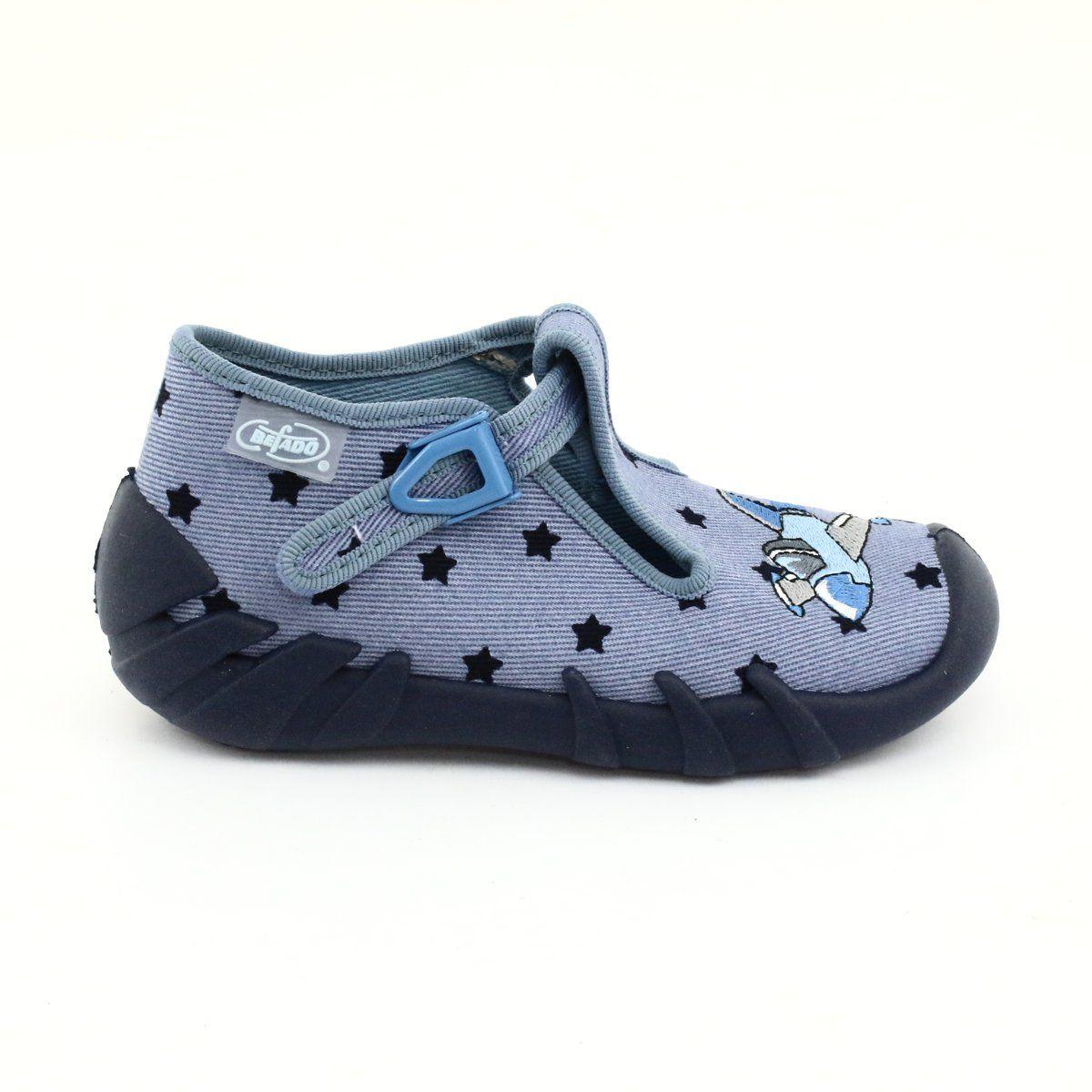 Befado Kolorowe Obuwie Dzieciece 110p345 Niebieskie Childrens Shoes Childrens Slippers Kid Shoes