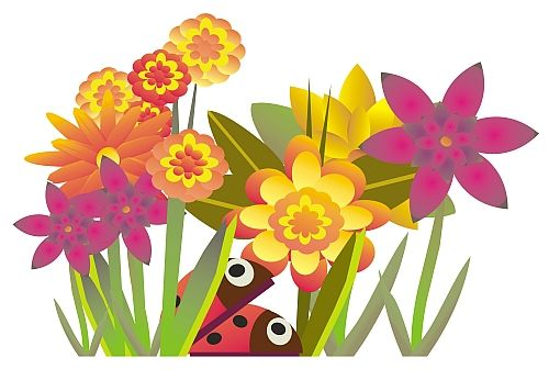 August Flowers Free Clip Art Graphics Cartoons Gif