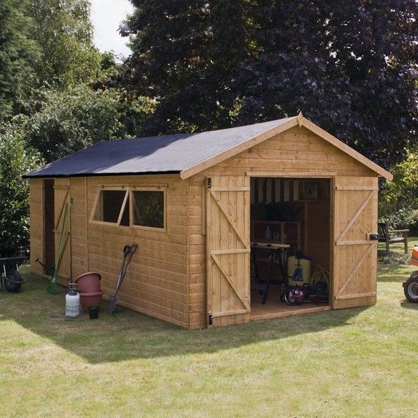 20 X 10 Shiplap Tongue And Groove Workshop Shed Wooden Sheds Garden Sheds Building A Shed Workshop Shed Wooden Sheds