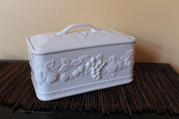 Ceramic Bread Box Made In Portugal Serving Ceramic