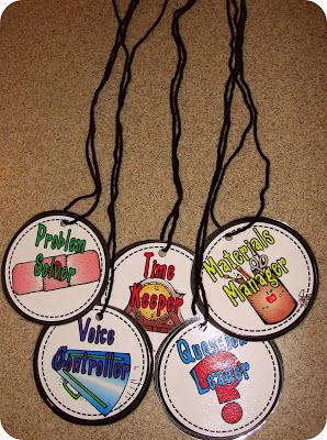 Freebie Student Job Badges For Group Work Activities Picture And