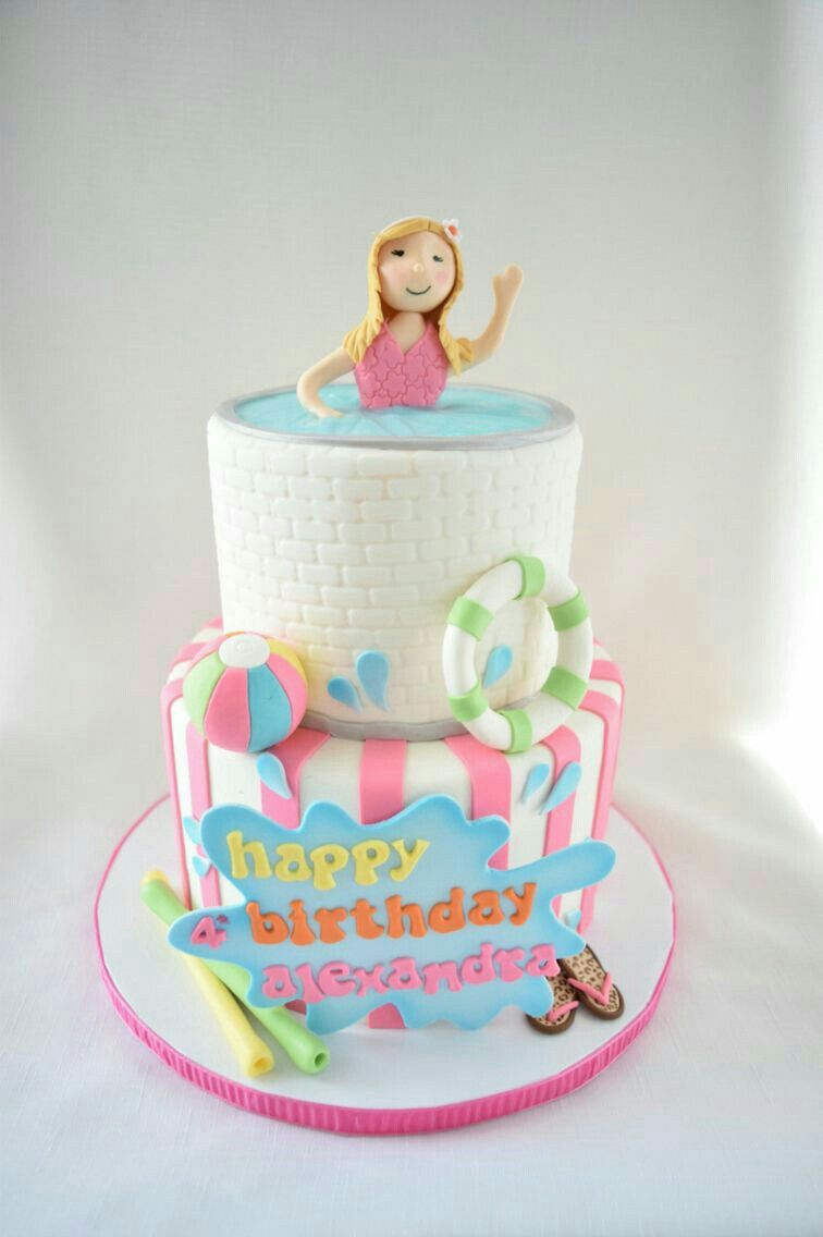 Pin By Michelle Evans On Pool Cakes Pool Party Cakes Pool Cake
