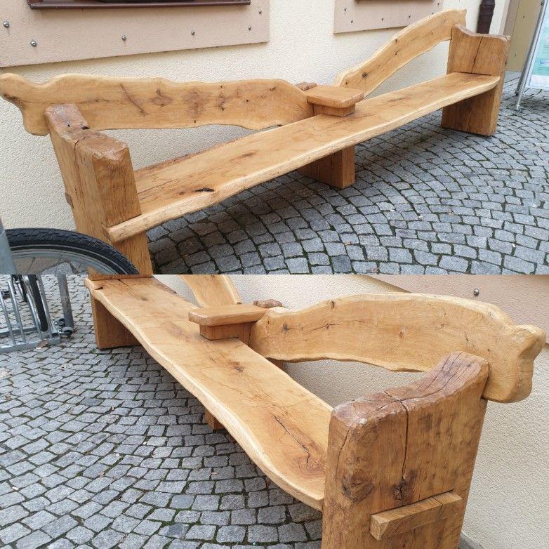 Massive Holzbank Gartenbanke Eiche Holz Holz