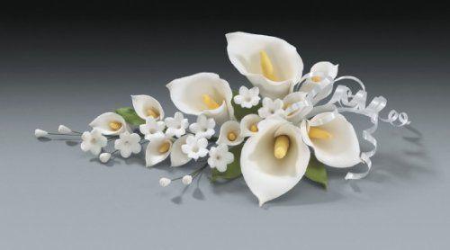 Calla Lily Spray Large Wedding In Gum Paste Cake Decoration By Decopac Http Www Amazon Com Dp Gum Paste Flowers Fondant Flower Tutorial Sugar Paste Flowers