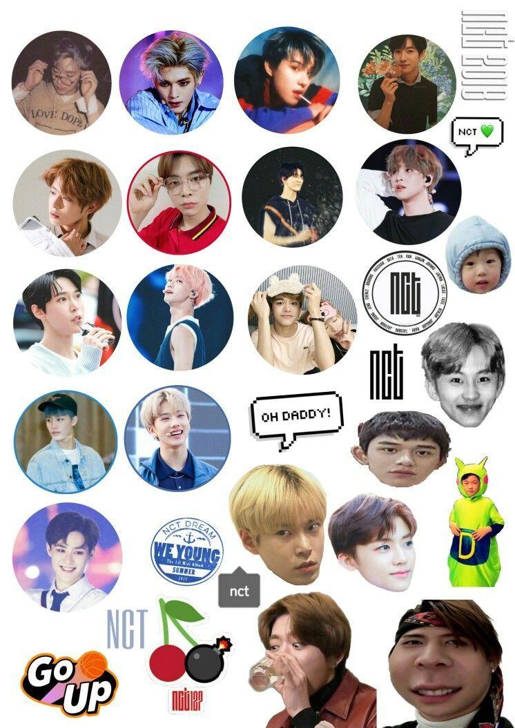 Nct Stickers Printable Pesquisa Google Imut Fotografi Stiker