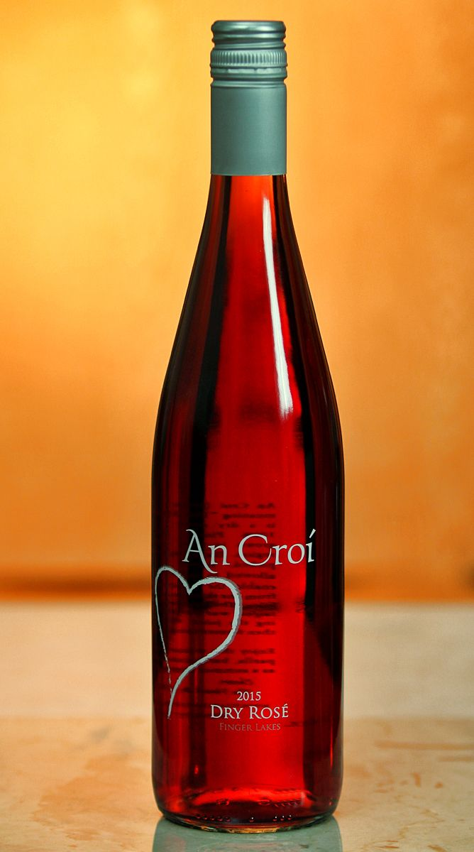 Heart Hands Wine Company An Croi Finger Lakes Wine Bottle New York Wineries Rose Wine Bottle