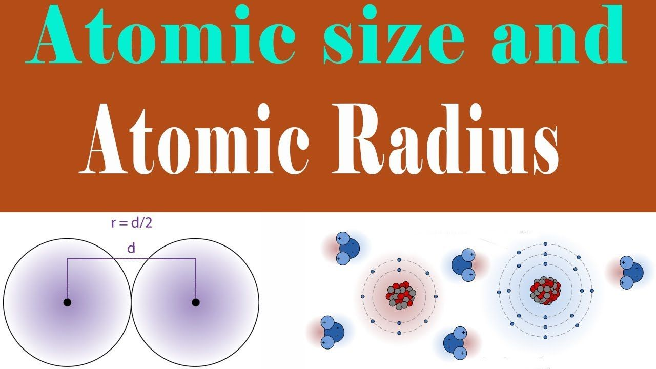 Insignificante Scimmia caramella  Atomic Size and Atomic Radius in Urdu Hindi Lecture Chemistry for ...