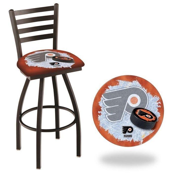 Philadelphia Flyers Nhl Orange D2 Ladder Back Bar Stool Available In 25 Inch And 30 Seat Heights Visit Sportsfansplus For Details
