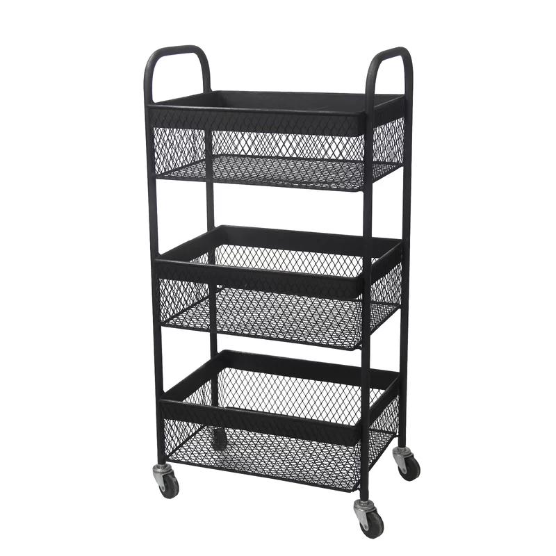 Seger 3 Tier Storage Accent Unit Storage Cart Storage Utility Cart