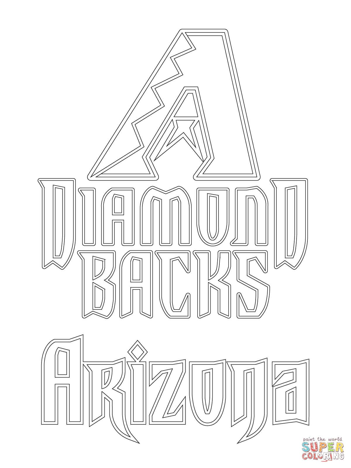 Arizona Diamondbacks Logo Super Coloring Arizona Diamondbacks