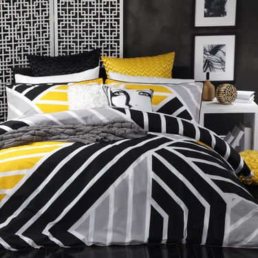Spotlight Logan Mason Scout Quilt Cover Set Scout Yellow Spotlight New Zealand Yellow Bedroom Decor Quilt Cover Sets Designer Bed Sheets